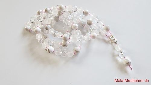 Klarer Geist Mala mit 108 Perlen