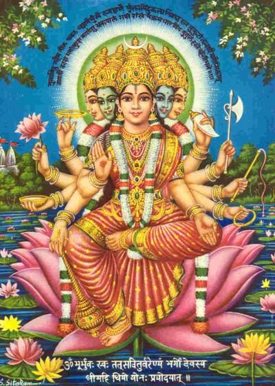 Gayatri mit Mantra