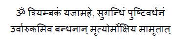 Tryambakam - Mrityunjaya-Mantra-sanskrit[